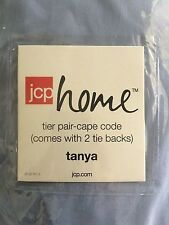 JCP TANYA CAPE COD TIER PAIR WITH TIE BACKS 84 x 47 SERENEBLUE//WHITE A14
