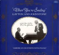 "LAYTON & JOHNSTONE ~ ""WHEN YOU'RE SMILING"" ~ 1986 UK 20-TRACK MONO LP RECORD"