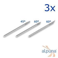 3 Plottermesser für PCUT 45° ALPUNA Qualitätsmesser
