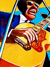 REVEREND GARY DAVIS PRINT poster blues demons and angels cd gibson jumbo guitar