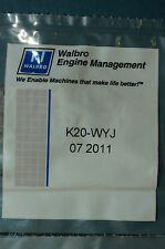 GENUINE WALBRO K20-WYJ CARBURETOR REPAIR KIT