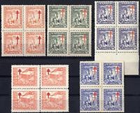 Sellos de España 1944 nº 984/988 Pro-Tuberculosos Bloque de cuatro