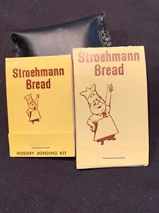 Stroehman Bread Sewing Kit Matchbox Set Of 2 Advertising Vintage