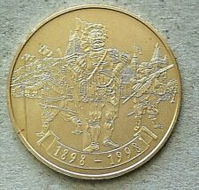 1998 Switzerland Shooting Taler, Schaffhausen, 200 Francs, gold, COA