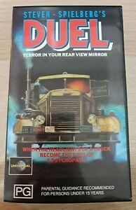 Steven Spielberg's DUEL 1972 VHS Video Tape   Horror Thriller Suspense *RARE*