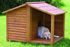 Trixie Log Cabin Dog House For Large Dogs Insulated Covered Porch Brand New