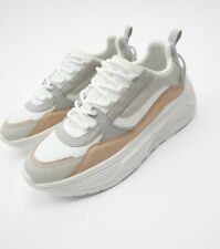 Zara Contrast Plateau Sneakers Schuhe 38 Top Blogger Azteken Boho Ausverkauft