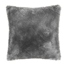 LUXURY LARGE SUPER SOFT WARM PLAIN FAUX FUR MINK FILLED CUSHIONS OR COVERS