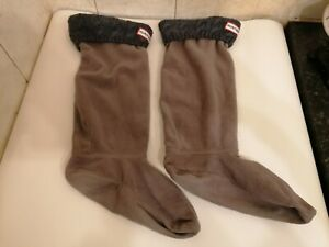 Hunter Wellie liners tall Size L Uk6-8 In Grey