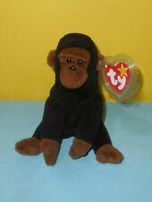 "Ty Beanie Babies Black Congo Ape 6"" Bean Plush Stuffed Animal w/ Tag"