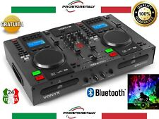 Vonyx Cdj450 DJ Workstation 2 lettori Cdbt 2 USB Mixer a 2 Canali