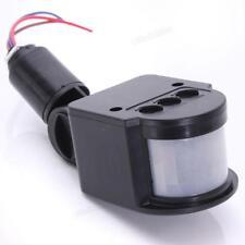 110-220V LED Outdoor Infrared PIR Motion Sensor Detector Black Wall Light Switch