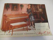Story & Clark vintage piano catalog/brochure 1959?