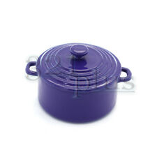 Miniature Cooking Pots Purple Dollhouse Supplies Cookware Soup Stove 1:12 Purple