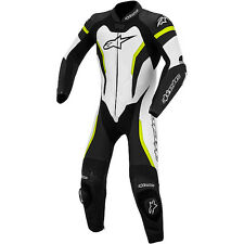 Alpinestars GP Pro One Piece Leather Race Suit Size 46 Euro Black/White/Yellow