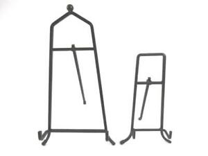 Lot of 2 Black Metal Display Easels Free Standing Pictures Books Art Décor