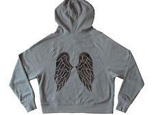 VICTORIA'S SECRET SUPERMODEL ANGEL WINGS BLING HOODIE OLIVE GREEN SMALL