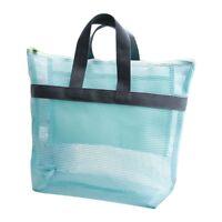 Portable Mesh Beach Storage Bag Swimsuit Towel Tote Toys Handbag Organizer Pouch