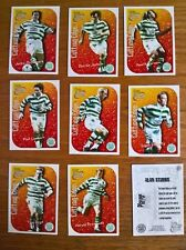 Futera football cards: Celtic Cutting Edge embossed insert chase set of 9