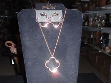 "Park Lane Jewelry, ""JOY RIDE"" Necklace & Earrings, Rose Gold,  NEW!!!"