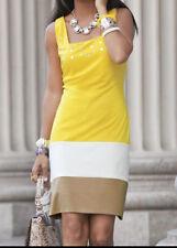size 2X Catreena Dress Rhinestones Yellow/Multi Church Work by Ashro new
