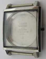 Square Zenith case in s. steel for parts or project .. DDE BR 14034 63 & 6 - 65