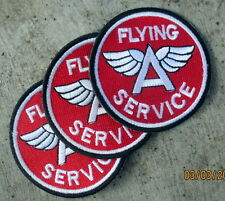 3X RARE RAT ROD HOT ROD FLYING SERVICE patch SIGN STATION FOR SALE PLANE
