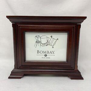 Vintage Bombay Company Wooden Photo Box (4 x 6 photo holder)