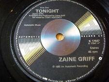 """ZAINE GRIFF - TONIGHT     7""""  VINYL"""