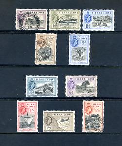 1956 Sierra Leone -  Part Set -  Mint Hinged/ Used CAT £32.00 ( Lot 1577 )