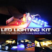 Für Lego 10265 Für Ford Mustang USB LED Licht Beleuchtungs Set w/ Batterie Case