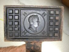 gaufrier moule à gaufre ancien fonte profil de Napoléon BONAPARTE Ier EMPEREUR