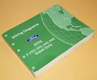 2016 Ford F-250 f-350 450 550 Super Duty Truck Wiring Diagrams Service Manual