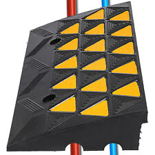 """4"""" Height Heavy Duty Rubber Curb Ramp Load Capacity High Visibility Visible"""