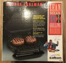 GEORGE FOREMAN GRILL~GR8BLK~NEW IN BOX~IDEAL FOR SINGLE SERVINGS~FAST & EASY