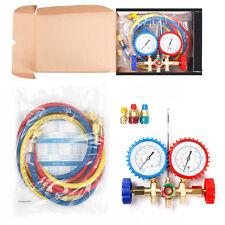 R502 R12 R22 Manifold Gauge Set HVAC AC Refrigeration Test Diagnostic w/5ft Hose