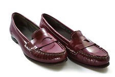 Cole Haan Nike Air Sloane Penny Loafer Oxblood Red Patent Leather - Size 7