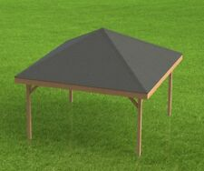 18' x 18' Square Gazebo with open sides Building Plans  - Perfect for Hot Tubs
