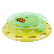 Flying Disc Pets Cat Toy Music Play Can Be Rotated Food Bowl Plastic Dish Feeder