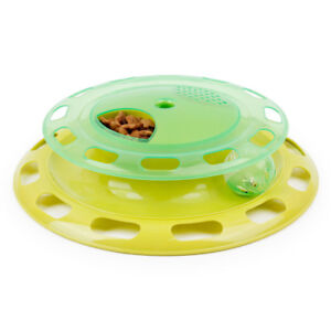 Pet Cat Suplies Flying Discs Cat Toy MusicPlay Can Be Rotated Disc Toys for Cats
