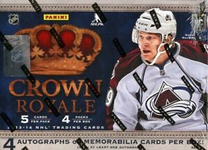 2013/14 PANINI CROWN ROYALE HOCKEY HOBBY BOX BLOWOUT CARDS