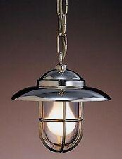 Lampara in ottone lucido da soffitto con catena senza vetro 22 cm
