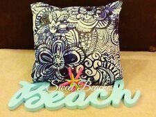 Beach Pillow Covers Deep Navy and Cream  Seashore Ocean Seaside  Sweet Beaches