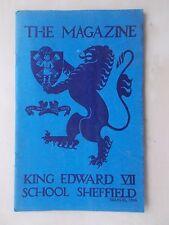 VINTAGE SHEFFIELD SCHOOL MAGAZINE MARCH 1946 - KING EDWARD VII SCHOOL