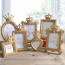 4pcs Gold Crown Photo Frame Resin Desktop Display Picture Frame