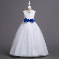 US STOCK Flower Girl Dress Princess Formal Graduation Bridesmaid Gown ZG8