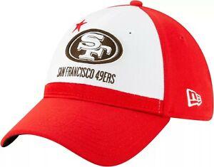 San Francisco 49ers Hat New Era 39THIRTY Red White Cali Flag Flex Fit S/M Cap