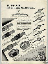 1942 PAPER AD Harman Wrist Watch Novelty Pendant Ice Cube Ruby Pinch Bottle