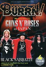 Burrn! Heavy Metal Magazine April 2017 Japan Guns N`Roses Black Sabbath