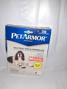 PET ARMOR DOG FLEA SQUEEZE ON TREATMENT MEDIUM DOGS 23-44 LBS 3 APPLICATIONS